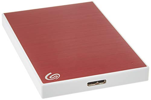 Seagate Backup Plus Slim 2TB External Hard Drive Portable HDD  Red USB 3.0 for PC Laptop and Mac, 1 year Mylio Create, 2 Months Adobe CC Photography, (STHN2000403)