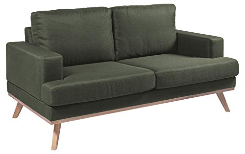 Amazon Brand - Movian Rotsee - Divano a 2 posti, 92 x 165 x 81 cm (Lu x La x A), verde