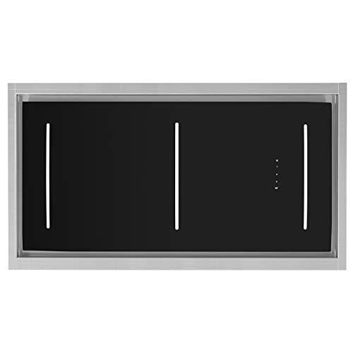 KKT KOLBE Cappa aspirante a soffitto/modulo ventola / 110 cm/acciaio inox / 4 gradini/vetro nero/illuminazione a LED/comando SensorTouch/aria di scarico o di circolazione / INTEGRA110