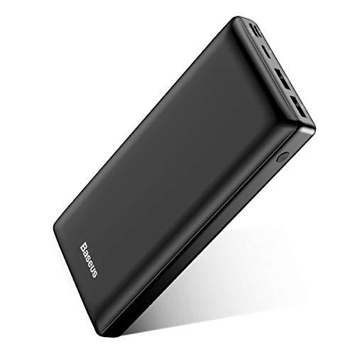 Baseus Power Bank 30000 mAh, Caricatore Portatile a 3 porte USB C Batteria Esterna Portatile per iPhone 11 Pro Max, iPad, Mac, Samsung, Huawei,Xiaomi ,Nintendo Switch Nero