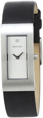 BERING Damen Analog Quarz Classic Collection Armbanduhr mit Kalbsleder Armband und Saphirglas 10817-400