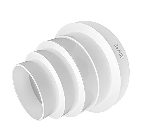 Airope,Riduttore Universale 80-150 mm,Regolabile per Tubazioni in Sistemi di Ventilazione.Basta tagliare il Riduttore al Diametro di Cui hai Bisogno