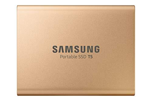 Samsung T5 da 1 TB, USB 3.1, SSD Esterno Portatile, Gen 2, Oro Rosa (MU-PA1T0G)