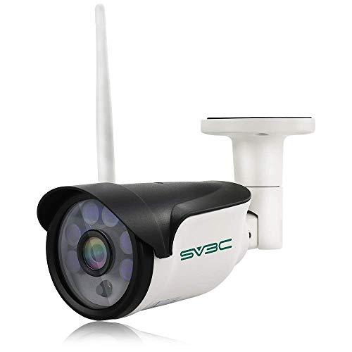 SV3C 960P Telecamera IP Camera Esterno/IP66 Telecamera Videosorveglianza WIFI con Rilevamento del Movimento,Visione Notturna,Supporto 128G TF Card, Vista a Distanza via Phone/Tablet/PC Windows