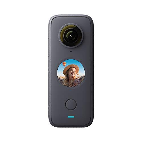 Insta360 ONE X2 - Fotocamera 360 con risoluzione 5,7K con stabilizzazione, impermeabile IPX8, effetto selfie stick invisibile, touch screen, editing IA, Controllo Vocale