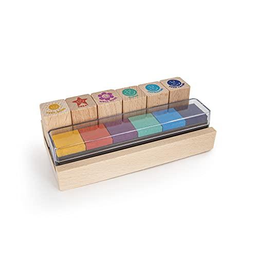 Trendhaus- Set de Sellos para Profesores (6 Unidades, con tampón de Colores) (955715)