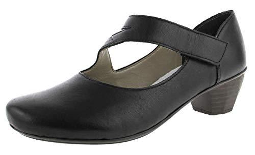 Rieker 41793, Zapatos de Tacón Mujer, Negro (Schwarz), 38 EU