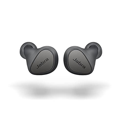 Jabra Elite 3 - Auriculares Inalámbricos Bluetooth, True Wireless Earbuds con Cancelación de Ruido, 4 Micrófonos para Llamadas Nítidas, Graves Intensos, Sonido Personalizable y Modo Mono, Gris Oscuro