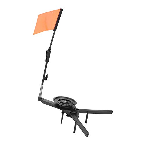 Ice Fishing Tip-Up Fishing Rod Tip-up Compact Orange Flag Tackle Accessory Kit for Ice Fishing...