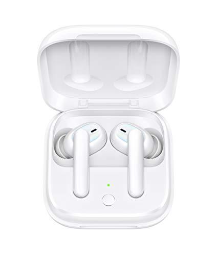 OPPO 'Enco W51' In-Ear Bluetooth-Headset/Kopfhörer mit Geräuschunterdrückung, Wasserbeständig nach IP54, Weiß, One Size