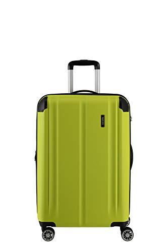 """Travelite Leicht, flexibel, sicher: """"City""""-Hartschalenkoffer für Urlaub und Business (auch mit Vortasche) Koffer, 68 cm, 78 Liter, Limone"""