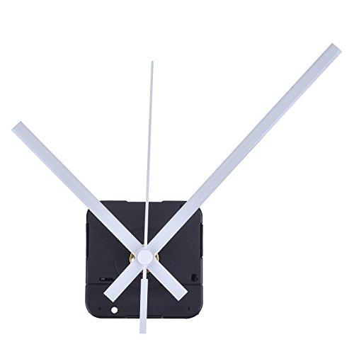 Orologio del Meccanismo al Quarzo Mandrino Lungo, 1/2 Pollici Massimo Quadrante Spessore, 9/10 Pollici Totale Lunghezza dellAlbero (Bianco)