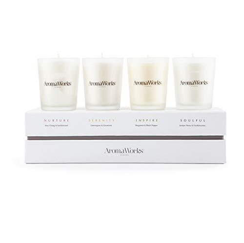 AromaWorks The signature range candle set 4 pc set unisex, 4...