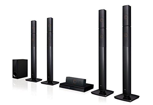 LG lhb655N Système Home Cinéma (3D Lecteur Bluray, DLNA, Smart TV, Bluetooth, 1000W, 5.1multiroom Sound Bar) Noir