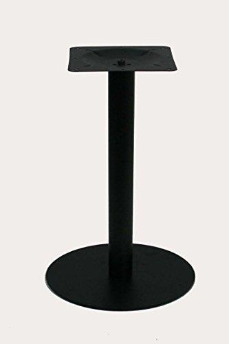 """Tischgestell 75 cm, Tischfuß, Edelstahl, schwarzes Gestell, runder Fuß\""""Essen\"""""""