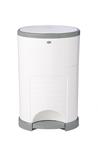 Dekor Classic Hands-Free Diaper Pail | White | Easiest to Use | Just Step  Drop  Done | Doesnt Absorb Odors | 20 Second Bag Change | Most Economical Refill System
