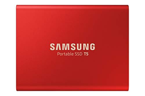 Samsung T5 da 1 TB, USB 3.1, SSD Esterno Portatile, Rosso (MU-PA1T0R)