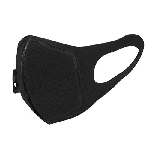 GUANGSHAN Unisex Half Face Mouth-Muffles with Breath Valve Wide Straps Washable Reusable Respirator