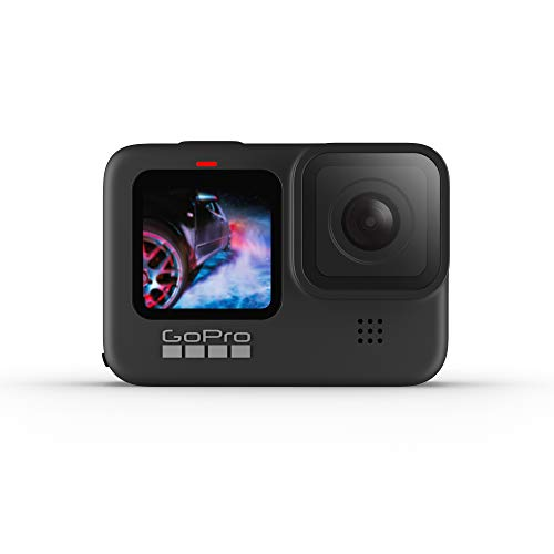 GoPro HERO9Black - Fotocamera sportiva impermeabile con schermo LCD anteriore e touch screen posteriore, video Ultra HD 5K, foto da 20 MP, live streaming a 1080p, webcam, stabilizzazione