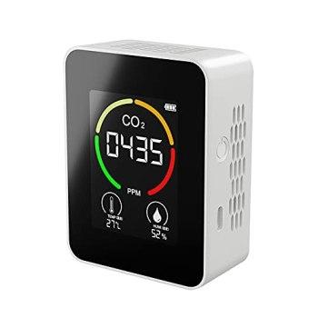Détecteur de CO2 portable intérieur Thermohygromètre multifonctionnel Détecteur d'air numérique domestique Analyseur de qualité de l'air intelligent Moniteur de pollution de l'air domestique
