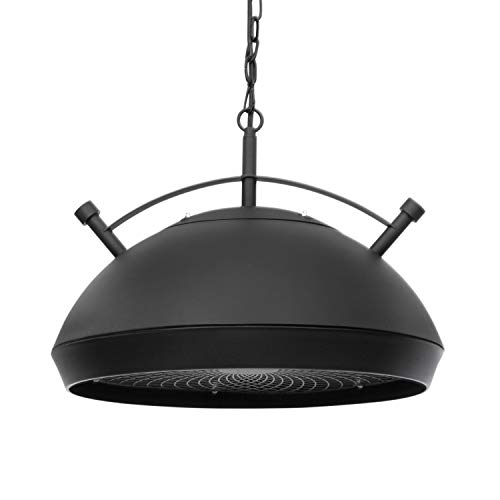 blumfeldt Bristol Heat Terrassen-Heizstrahler, Infrarot-Technik, 2100W Carbon-Heizelement, 3 Stufen: 900, 1200, 2100 W, Flexible Positionierung, Retro-Design, Decken-Montage, Fernbedienung, schwarz