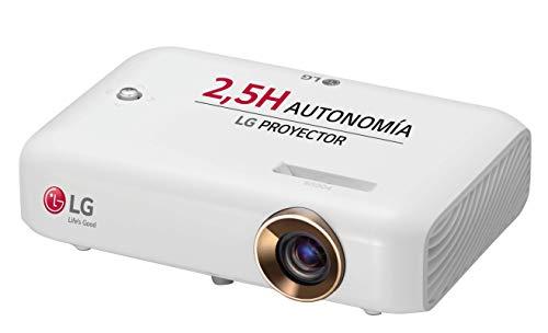 LG Beamer PH550G bis 254 cm (100 Zoll) CineBeam HD LED Projektor (550 Lumen, Drahtlose Screen-Share-Funktion), weiß