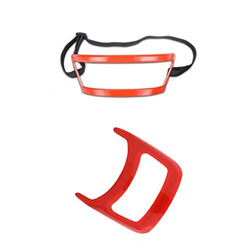 FBGood - Strumento per Modellare la Barba  Strumento di Taglio dei Capelli, Guida per Curve Multi-Curve per Uomo  Barba Shaper, Ideale per la mandibola alla Linea del Collo Rosso