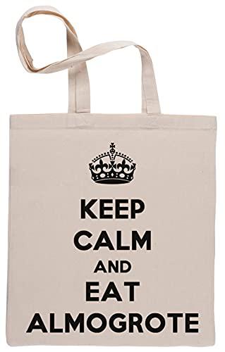 Keep Calm and Eat Almogrote Bolsa De Compras Shopping Bag Beige