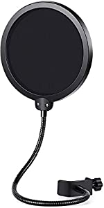 Two-screen Pop Filters: The first screen blocks air blasts as any pop filter normally would; The gap in between then disperses any remaining air pressure, so by the time it passes the second screen, the blast is easily contained. Adjustable Gooseneck...