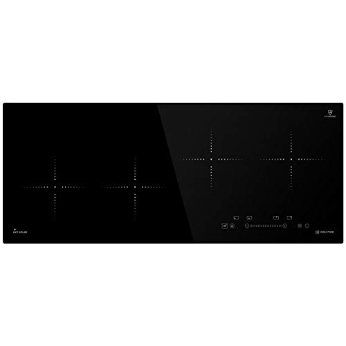 Piano cottura incasso a induzione 92cm (Autarkic, 7kW, 9 passi, 4 zone, senza cornice, tasti sensore...
