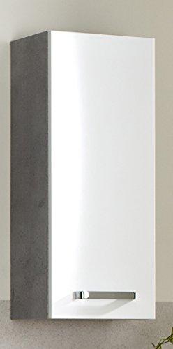 Pelipal 913 Hanau Armadio da Parete, Decorazione in Legno, Effetto Cemento, 20,0 x 30,0 x 70,0 cm