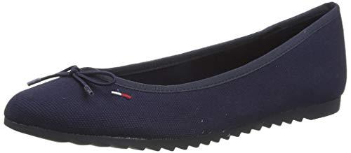 Tommy Hilfiger Color Block Ballerina, Zapatos de Tacón para Mujer, Azul (Twilight Navy C87), 37 EU