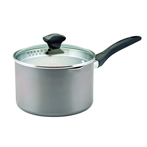 Large Nonstick Saucepan with Straining and Lid