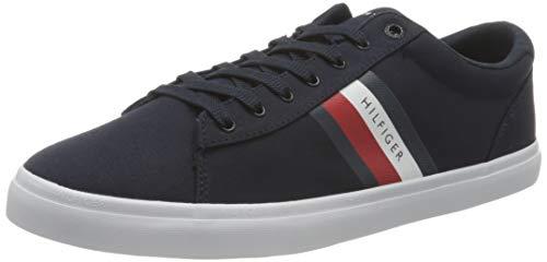Tommy Hilfiger Essential Stripes Detail Sneaker, DETALLADOR DE Rayas Esenciales Hombre, Cielo del Desierto, 42 EU