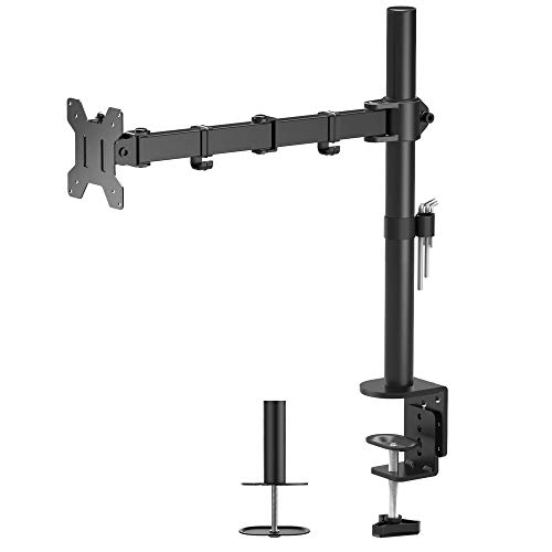 BONTEC Braccio Monitor Singolo per Schermo LED LCD da 13 a 32 Pollici, Ergonomica Inclinazione e Rotazione Braccio Monitor Scrivania con Morsetto, Dimensioni VESA: 75x75-100x100 mm