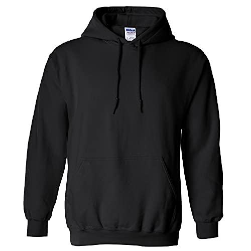Gildan Men's Fleece Hooded Sweatshirt, Style G18500, Black,...