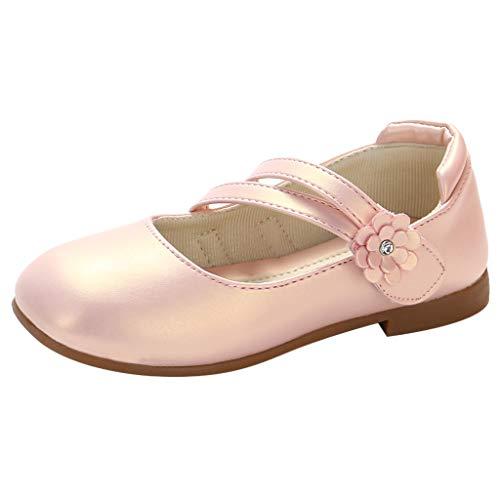 YWLINK Zapatos para NiñOs,NiñAs De Los NiñOs Flores Dulces Zapatos PequeñOs Zapatos De Princesa Zapatos Solos Zapatos Frescos Zapatos De Princesa Zapatos De Baile(Rosado,28EU)
