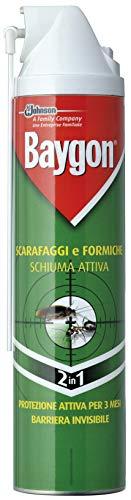 Baygon Scarafaggi e Formiche Schiuma Attiva Spray - 2 pezzi da 400 ml [800 ml]
