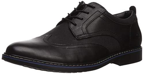 Skechers Bregman MODESO, Zapatos de Cordones Oxford Hombre, Negro, 43 EU