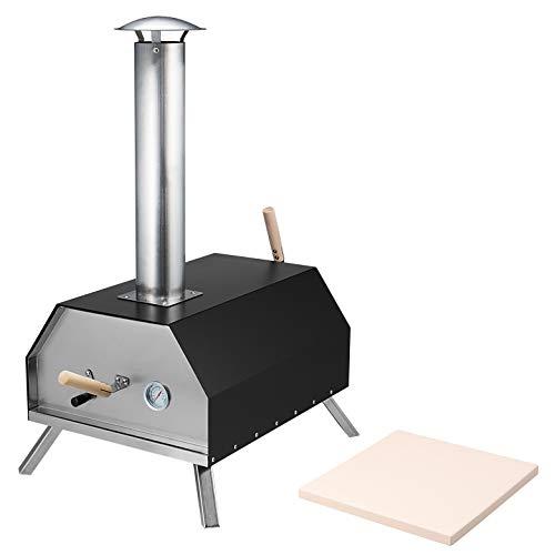 bremermann Four à pizza avec pierre à pizza 30 x 2 x 30 cm // pour briquettes, charbon, pellets