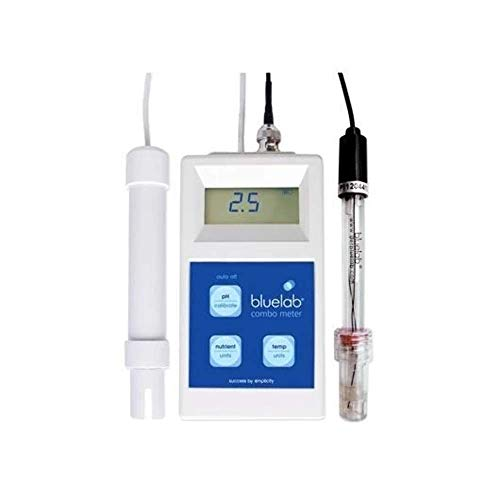 Bluelab METCOM Combo Meter for pH, Temperature, and Conductivity Measures, Easy Calibration