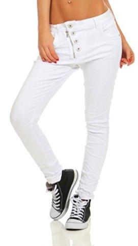 Fashion4Young-11105-Damen-Jeans-Hose-Boyfriend-Baggy-Haremsjeans-Slim-fit-Rhre-Damenjeans-Pants-wei-XS-34