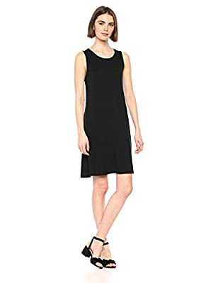 Made in Indonesia This versatile sleeveless tank swing dress features a scoop-neckline and a feminine drape for easy, everyday styling Made with luxe jersey that beautifully drapes Everyday made better: we listen to customer feedback and fine-tune ev...