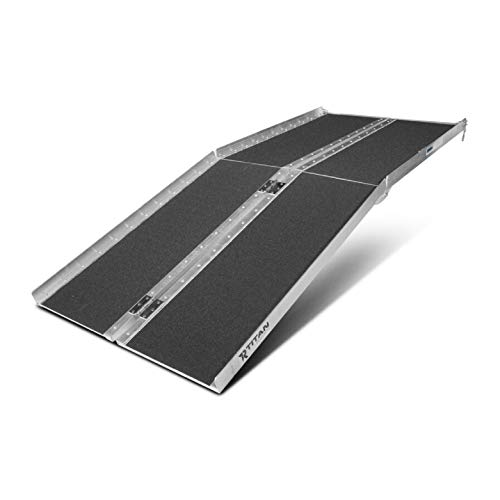 Titan Ramps Portable Wheelchair Ramp Multi Fold 6 ft Long x 30 in Wide Anti-Slip