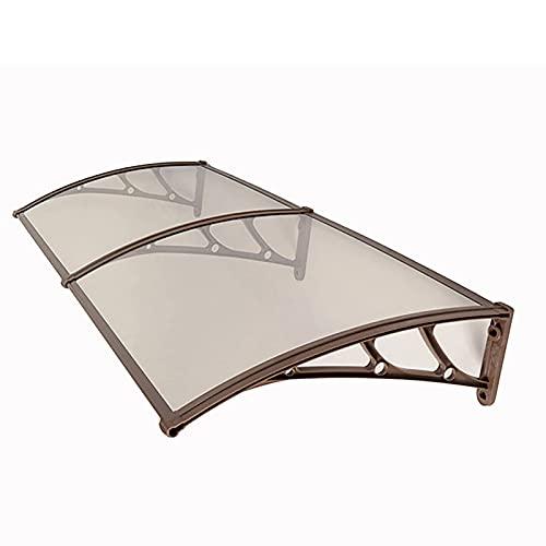 Marquesina para Puertas y Ventanas, el toldo del Sol al Aire Libre con los Soportes curvos de Aluminio espesando, protección contra la Nieve Anti-UV (Size : 100 * 150cm)