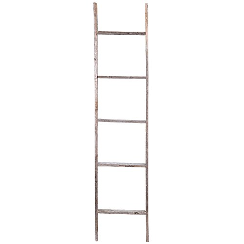 5. Reclaimed Barnwood Rustic Ladder
