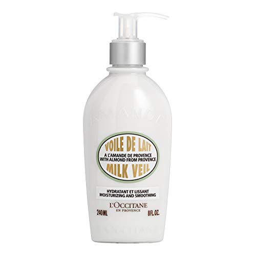 L'Occitane Illuminating Almond Milk Veil Body Lotion for Hydrating Skin, 8 fl. oz.