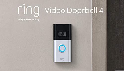 Die neue Ring Video Doorbell 4 von Amazon – HD-Video mit Gegensprechfunktion, Pre-Roll-Videovorschau in Farbe, Akkubetrieb   Mit kostenlosem 30-tägigen Testzeitraum für Ring Protect