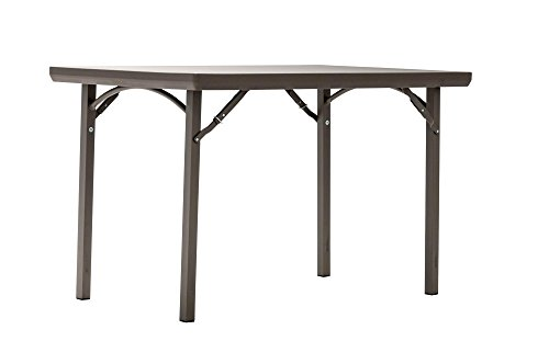 ZOWN Premium Commercial 48 (4 ft) Blow Mold Banquet Folding Table, Brown