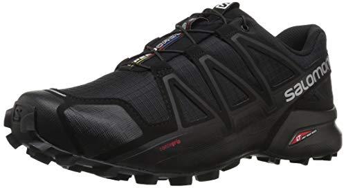 Salomon Herren Trail Running Schuhe, SPEEDCROSS 4, Farbe: schwarz (Black/Black/Black Metallic) Größe: EU 43 1/3